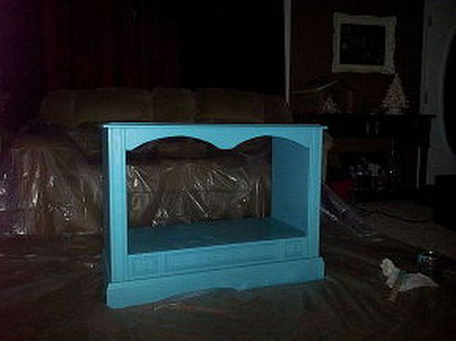 TV con molduras de madera