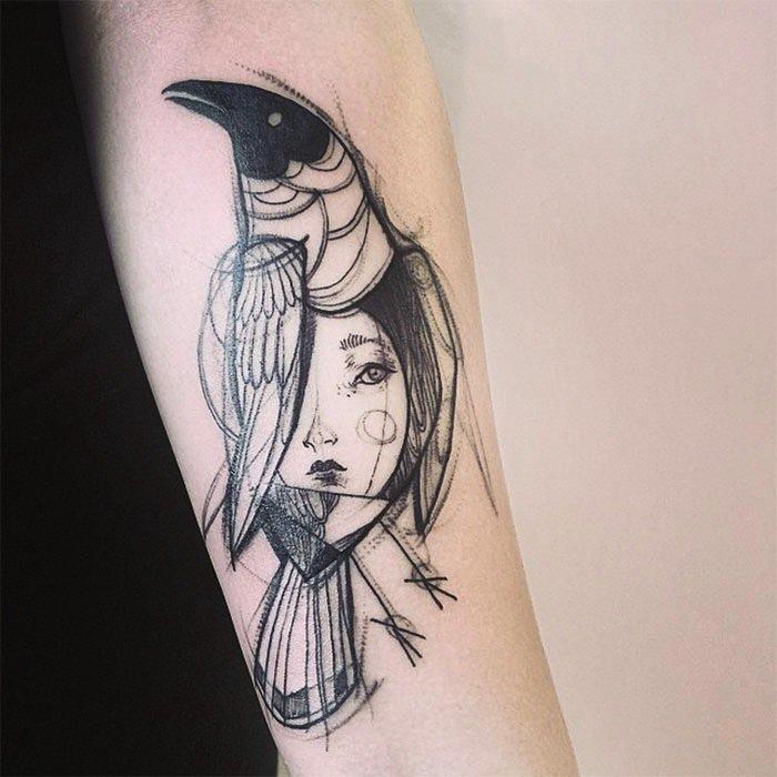 pájaro-tatuaje