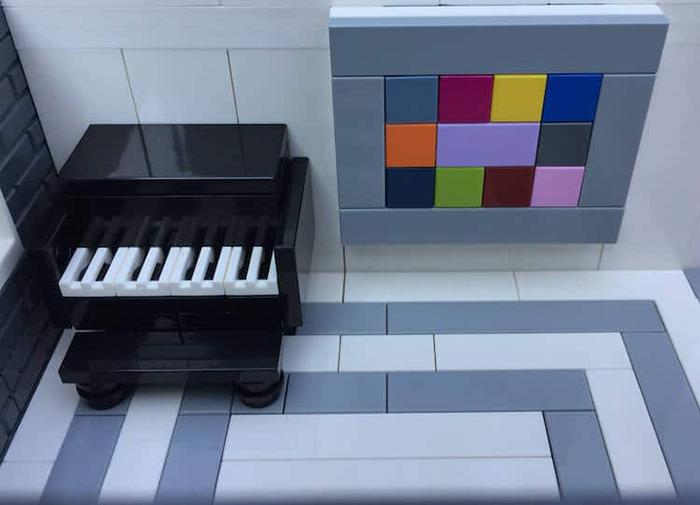 Sala de piano LEGO