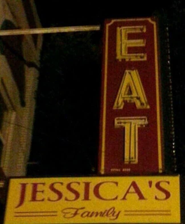 fail-eat-jessica-family-sign-board-diseño-más-divertido-diseño