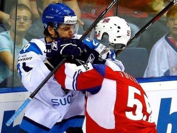 cabeza de jugador de hockey de ilusión ido