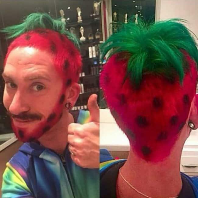 fresas de pelo loco divertido