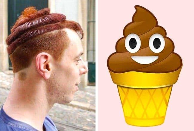 helado de pelo divertido-loco
