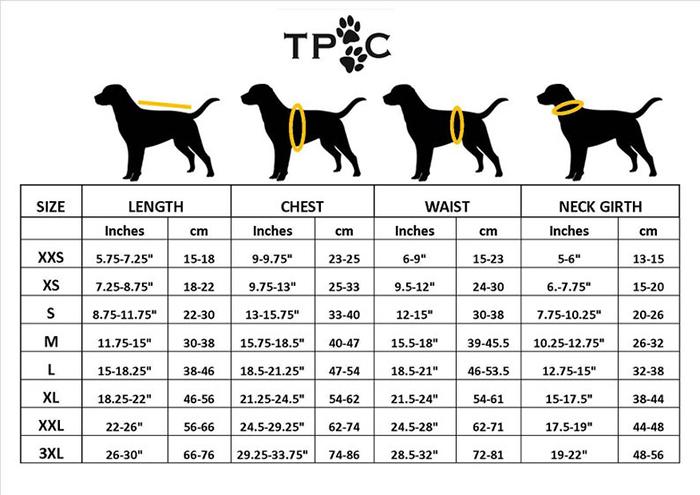 referencia de medición de perro