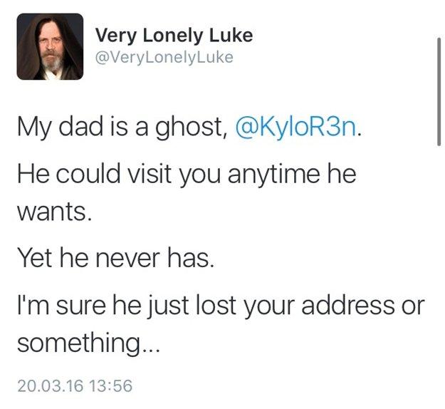 un fantasma-luke-fantasma muy solitario